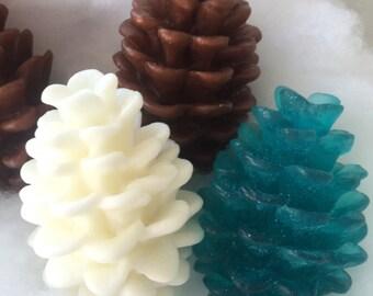 Pinecone Soap - Holiday Soap - Christmas Gift Soap - Stocking Stuffer - Fall Soap - Pinecone Gift Soap - Rustic Woodland Soap