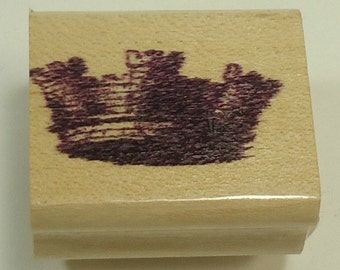 Crown Wood Mounted Rubber Stamp
