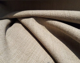 Taupe GRAY and Cream Woven Cotton Poly BARROW UPHOLSTERY Fabric by the yard, 11-14-02-0913