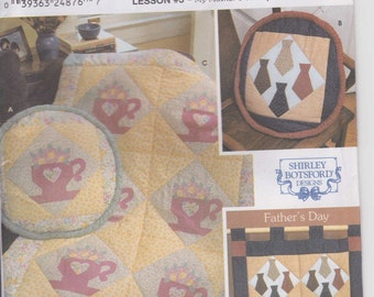 CLEARANCE Quilt Block Club Holiday Edition Lesson 3 Teacups and Ties Pattern Uncut Simplicity 9661