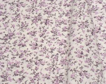 "a beautiful cut of cotton fabric ""small purple flowers"""