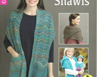 Pocket Shawls ~  Crochet Book ~  Soft Cover ~  Leisure Arts ~  Newly Purchased