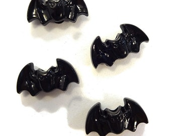 Black Bat Shaped Halloween Kandi Pony Beads