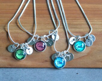 4 best friend necklaces 4 friendship necklace, personalized name friendship necklaces