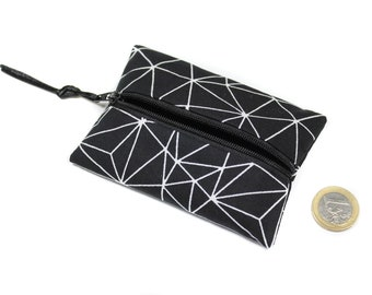 wallet fabric graphic, small wallet, cotton wallet, unisex wallet, zippered wallet, women gift