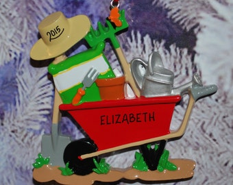 Personalized Gardening Christmas Ornament