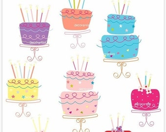 ON SALE clip art,Digital clipart,cake clipart, birthday cake clipart,  dancing cake , INSTANT Download
