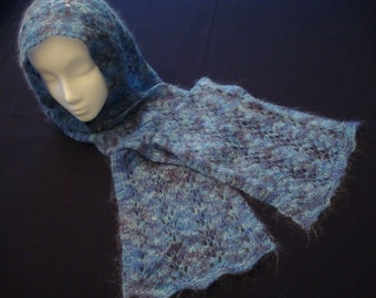 Two Easy Knitted Lace Scarf Patterns-- Instant Download