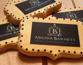 Customizable Business Card Cookies