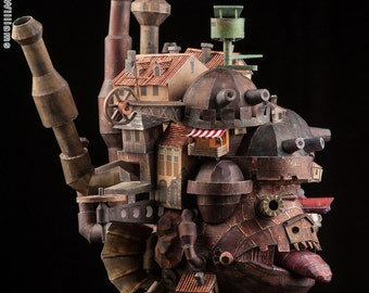 Paper Replica of Hayao Miyazaki's Howl's Moving Castle