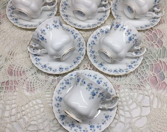 Royal Albert Memory Lane Demitasse Cup and Saucer, 10 Available