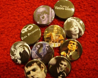 Dark Shadows Pinbacks or Magnets