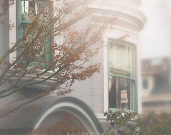 Photographie de fenêtre, Photo de San Francisco, maisons, victorien Wall Art, impression de l'Architecture, Pastel, rêveuse, California Art, Vintage, SF