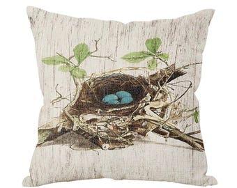 """Bird's Nest 18x18"""" Pillow Cover"""