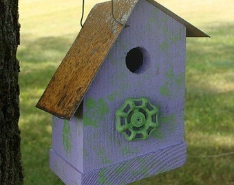 Rustic Birdhouses, Cottage Birdhouses, Recycled Birdhouses, Outdoor Bird House, Functional Bird House