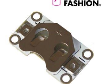 Electro-Fashion, Sewable Coin Cell Holder Sewable electronics e textiles e-textiles