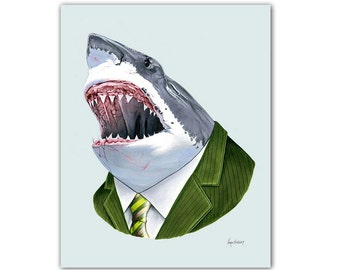Great White Shark print 8x10
