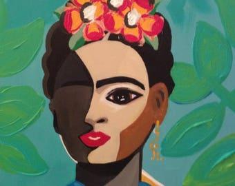 Frida: Art Print on Canvas