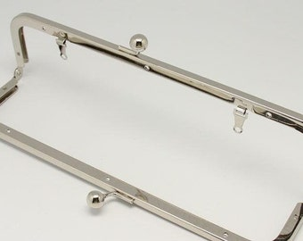 1 PC Retro Antique Silver Metal Purse Frame Handle Purse Frame 23x6cm  ( 9 x 2.36 inch) E142