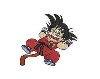 "4"" Goku Iron-On Patch - Dragonball Dragon Ball Z GT KAI Super Saiyan One Piece Naruto Code Geass Robotech Full Metal Jacket Cowboy Bebop"