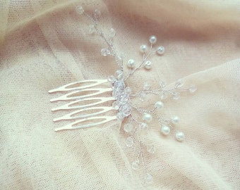 rose gold hair comb bridal hair comb wedding hair comb pearl hair comb bridal headpiece hair comb bridal comb hair accessories wedding comb
