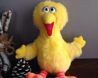 "13"" Playskool Big Bird Plush 1986 70205 Sesame Street stuffed animal"