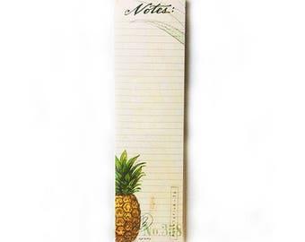 Pineapple List Pad, Pineapple To-Do List, Pineapple Notebook, Pineapple Illustration, Pineapple Print