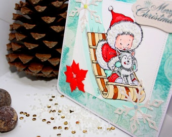 Christmas cards hand made Merry Christmas cards Gifts Greeting cards Xmas cards Baby Christmas cards Scrapbook cards Christmas postcards