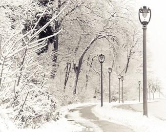Snow Decor, Milwaukee Decor, Milwaukee Wisconsin, Home Decor, Lake Michigan, Lakeshore, Snowstorm on Lincoln Memorial Drive