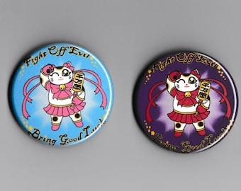 Magical Girl Maneki Neko Button