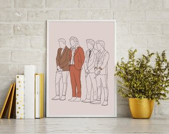 Gotta Whole Lot Of History - One Direction Print - Harry Styles - Louis Tomlinson - Niall Horan - Liam Payne