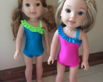 """14.5"""" Doll Swimsuit for Wellie Wishers Dolls"""