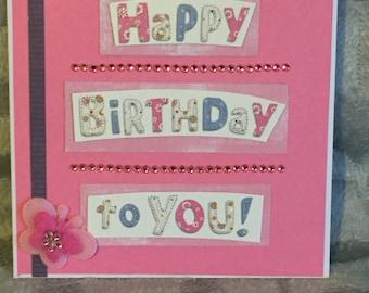 Pretty In Pink Birthday Card