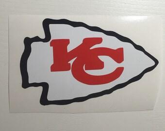 Kansas City Chiefs Decal, 3 colors