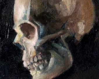 Skull Study (Original Oil Painting)