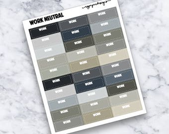 Work | Neutral | Functional | Planner Stickers