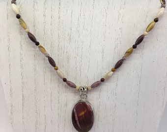 Earth Finds Design - Mookaite Necklace set