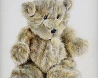 """Scruffy Ted Pastel Print 5"""" x 7"""""""