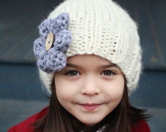 Slouchy Hat Knitting Pattern, PDF Knitting Pattern, Easy Knit Hat Pattern, Instant Download PDF Pattern, Girl to Adult sizes - AVA