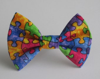 Autism Awareness Puzzle Piece Bow Tie