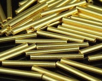KG-279 thai karen hill tribe silver 20 gold vermeil straight tube bead