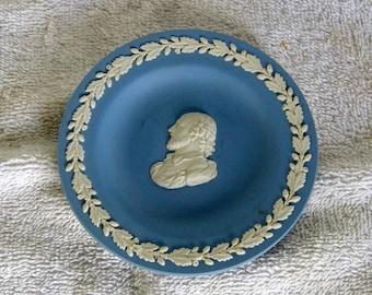 Wedgwood Blue Jasperware Shakespeare Pin Dish