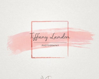Premade Logo and Photography Logo - Watercolor Watermark