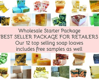 Soap 12 wholesale soap loaves, 3.5 lb whole soap loaves, best selling soap, wholesale soap, bulk soap, vegan soap,natural soap FREE SHIPPING