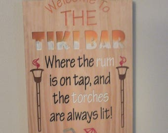 Tiki bar sign Bar signs man cave signs Tiki torch business Bar sign display Bar sign store  Personalize bar signs Pub and beer sign Business