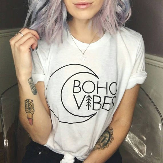 BOHO VIBES, Boho Vibes Tshirt, Boho Tee, Boho Tshirt, Boho Shirt, Boho Clothing, Bohemian, Boho Vibes Tops, Boho Tshirts, Boho Clothing