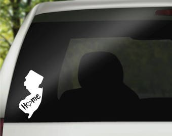 New Jersey Decal, State Decal, New Jersey Car Decal, New Jersey Home Decal, State Car Decal, Laptop Decal, Tumbler Decal, Water Bottle Decal