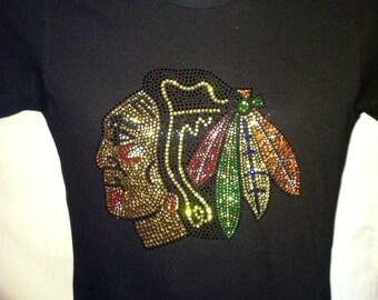 Chicago Blackhawks with Top Quality Rhinestones!!