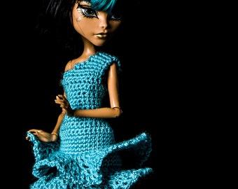 Monster High doll clothes - summer crochet dress.