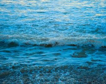 Ocean by Moonglow - NATURE photography - Beach Decor - California Coast - Ocean Beach - Waterscape - Aqua, Blue, White
